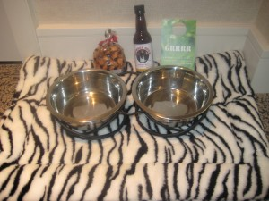 Hotel Palomar's pet amenities. Courtesy of Hotel Palomar.