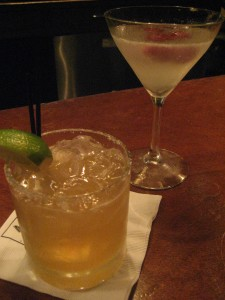 Nectar margarita (left), something with raspberry that I didn't write down (right)