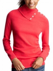 I love the collar on this sweater. On sale for $19.75.