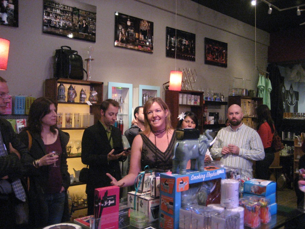 The Liquid Muse (center) at Barkeeper