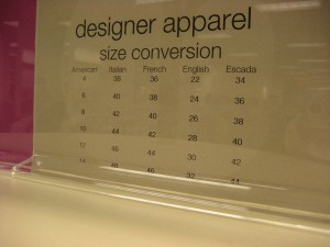 Escada has its own sizing system?