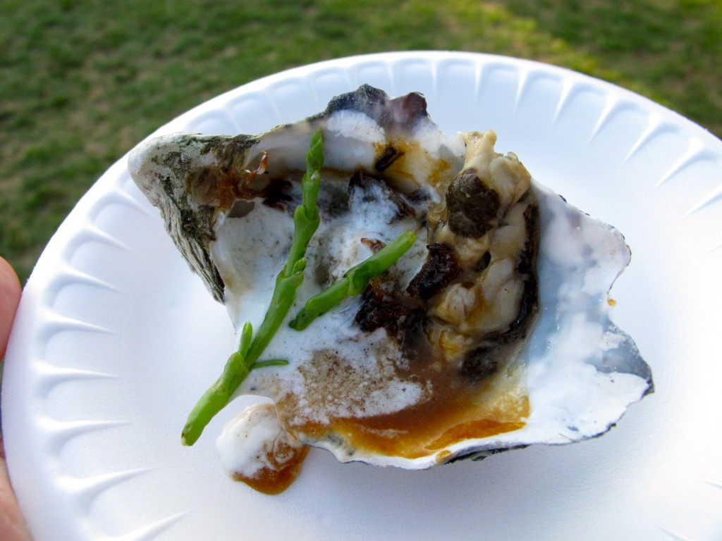Pacific Oyster Asada w/ chicharron short rib, serrano ponzu butter, lemongrass foam by Javier Plascencia of Mision 19