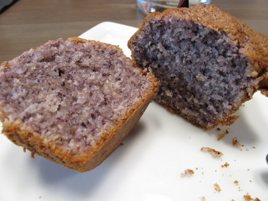 Inside of the Blue Corn Muffins