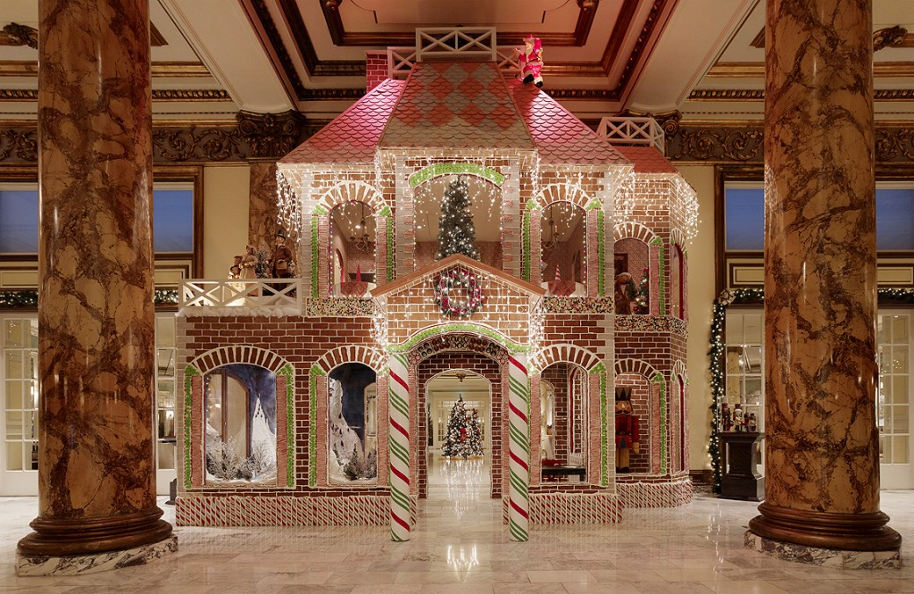 Gingerbread house at Fairmont San Francisco