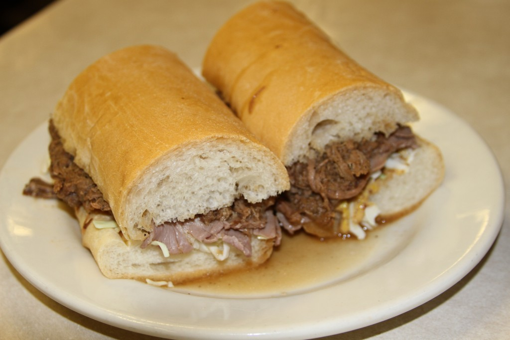Mother's roast beef po' boy