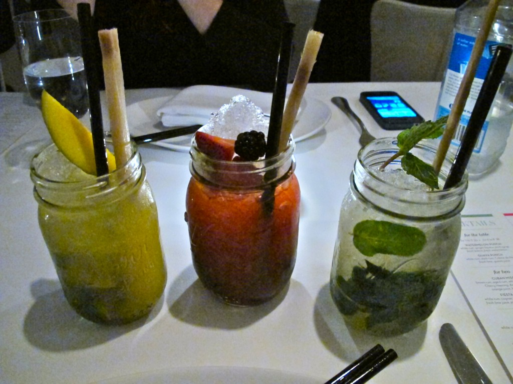Trio of mojitos