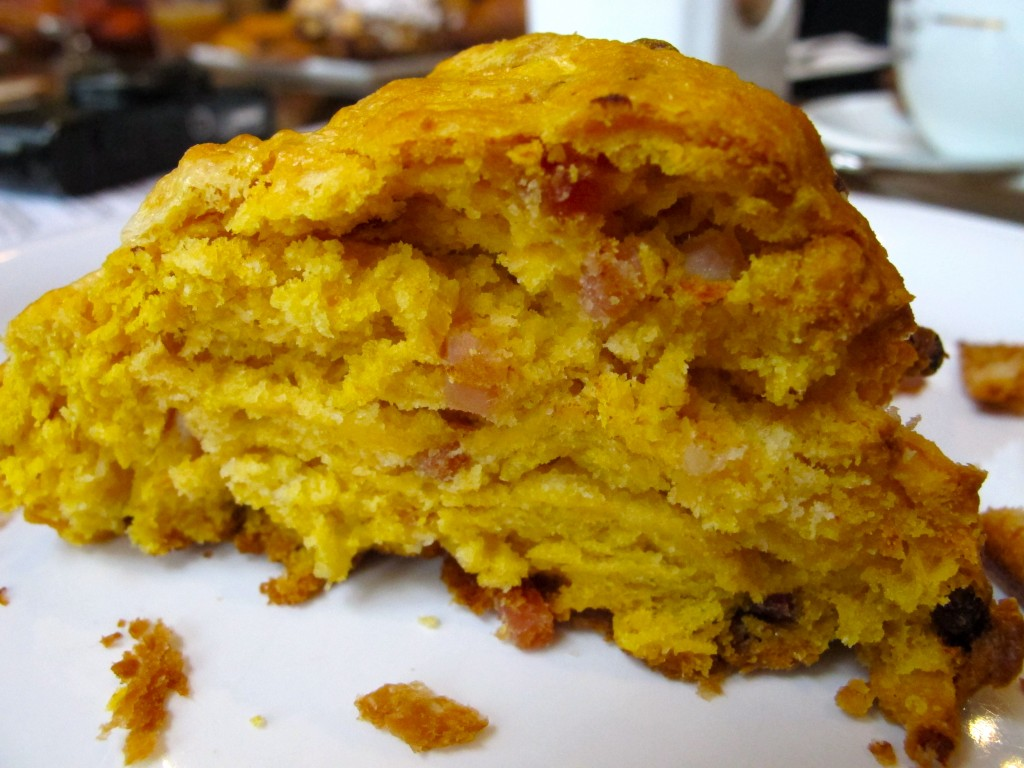 Sweet potato speck biscuit