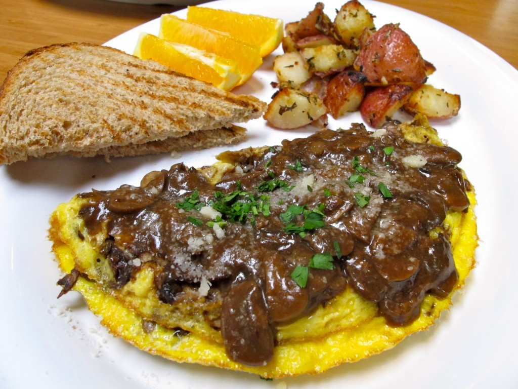 3 Mushrooms omelette