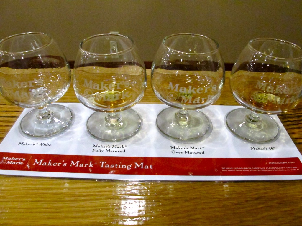 Bourbon tasting at Maker's Mark distillery