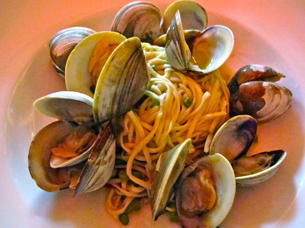 Pasta and clams at Proof on Main