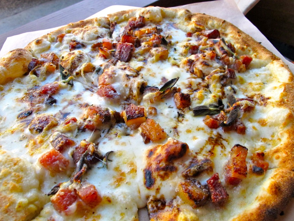 Bacon & Date Mascarpone Pizza