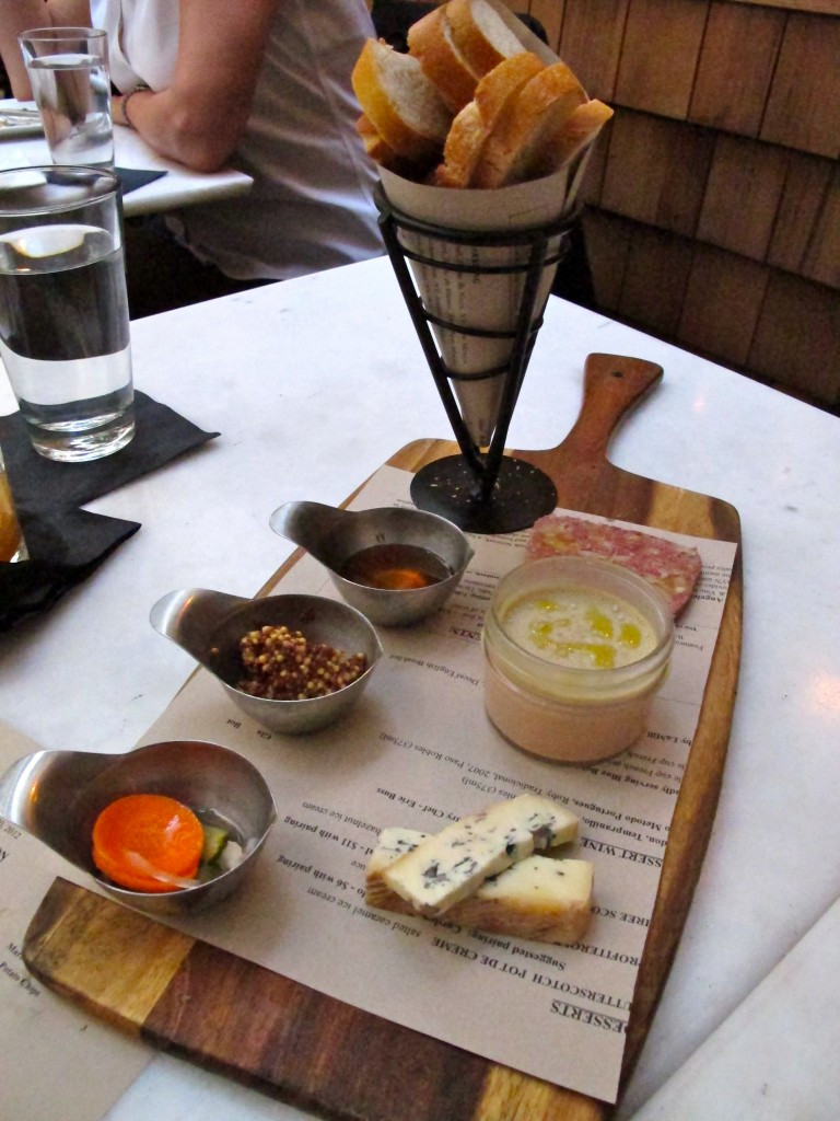 Charcuterie and cheese board at Wood & Vine