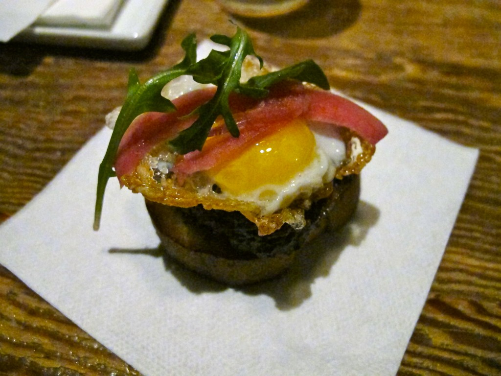 Pork cheek hash with quail egg