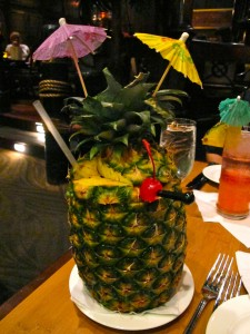Pineapple Royale at the Tonga Room and Hurricane Bar