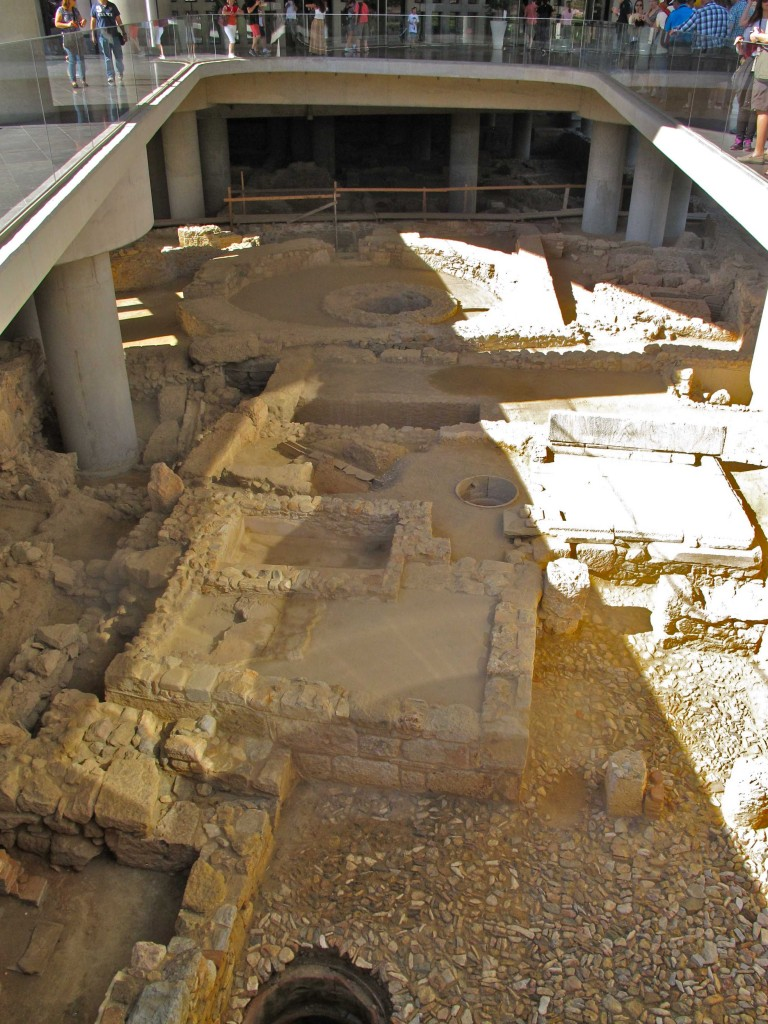 Ruins beneath the Acropolis Museum