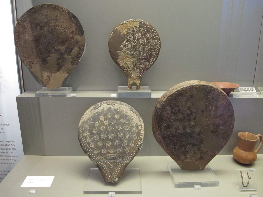 Ancient frying pans at the National Archeological Museum