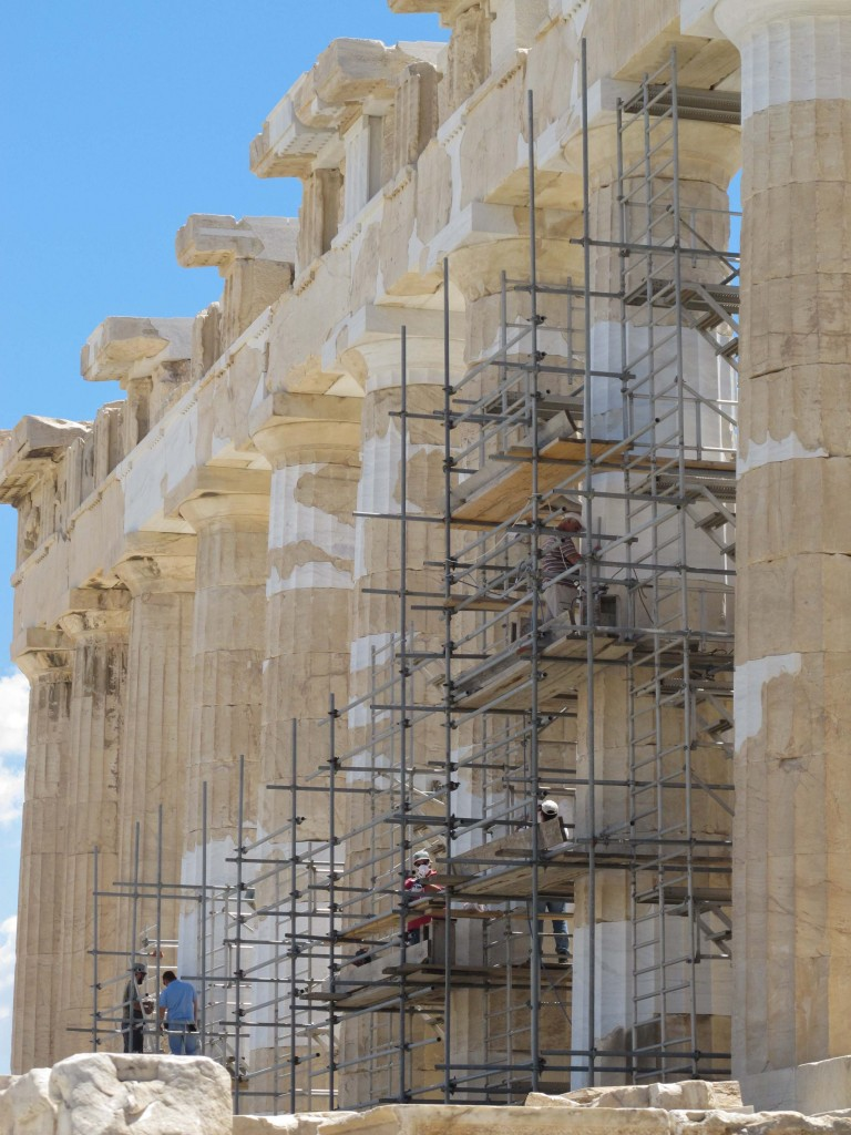 Parthenon under restoration