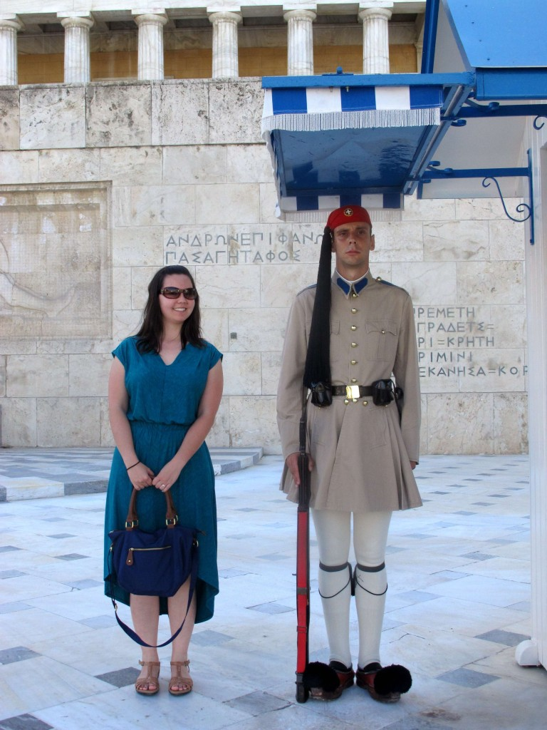 Me with an Hellenic Parliament guard