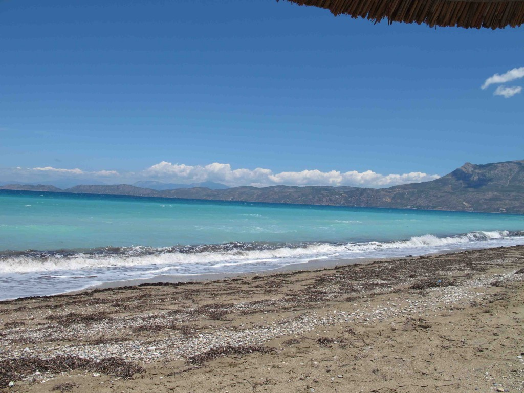 A beach in Corinth