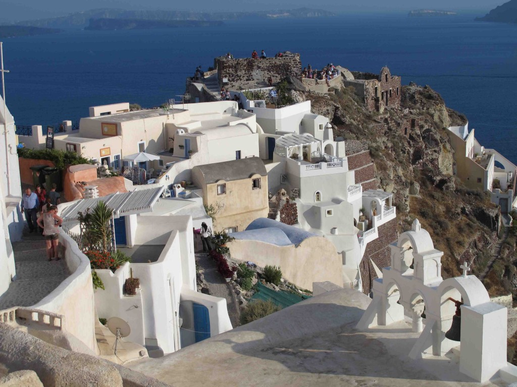 Looking toward the sunset promontory in Oia