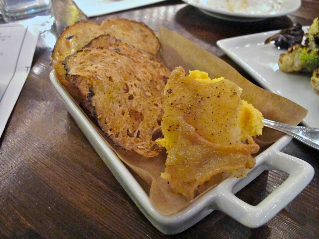 Beer cheese with crispy chicken skin