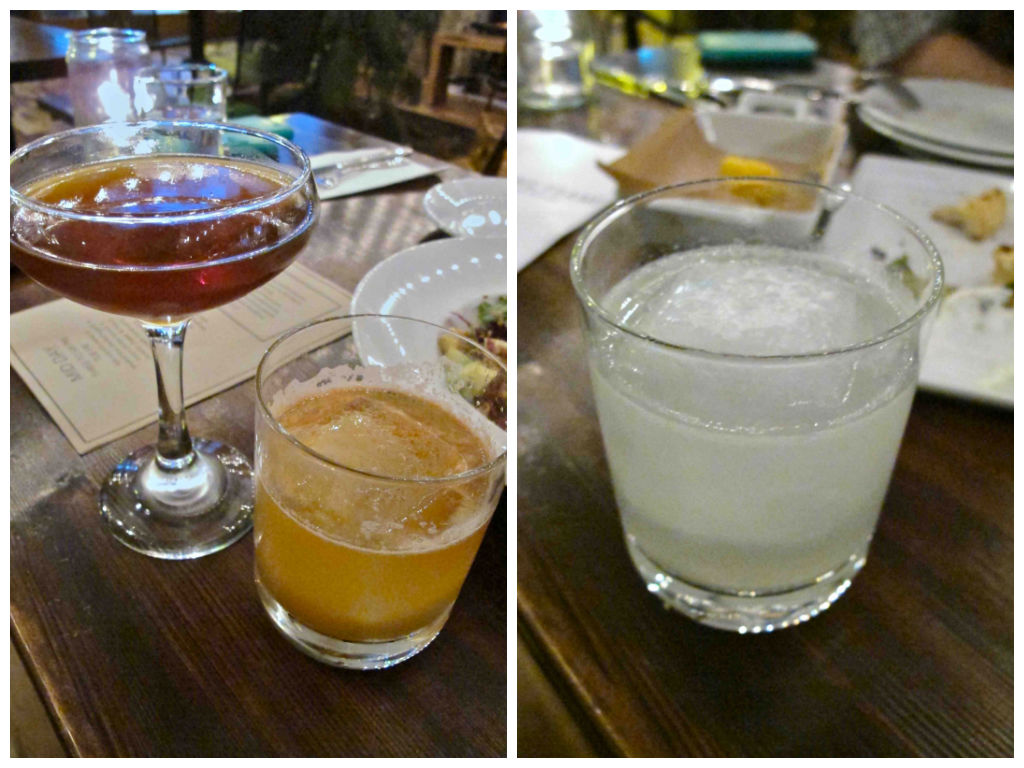 rye, bourbon and mezcal drinks