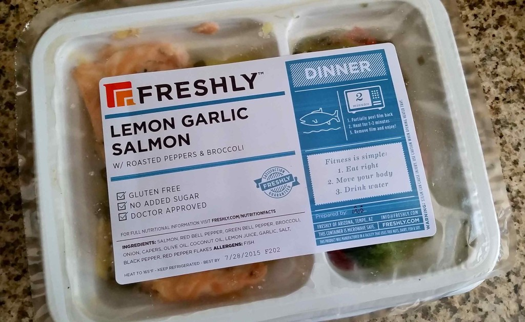 Freshly salmon packaging