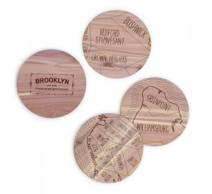 UncommonGoods gifts Map coasters