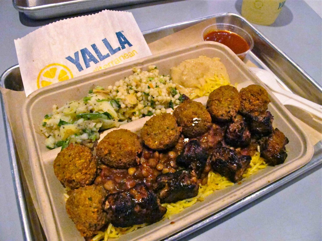 Yalla Mediterranean falafel and steak