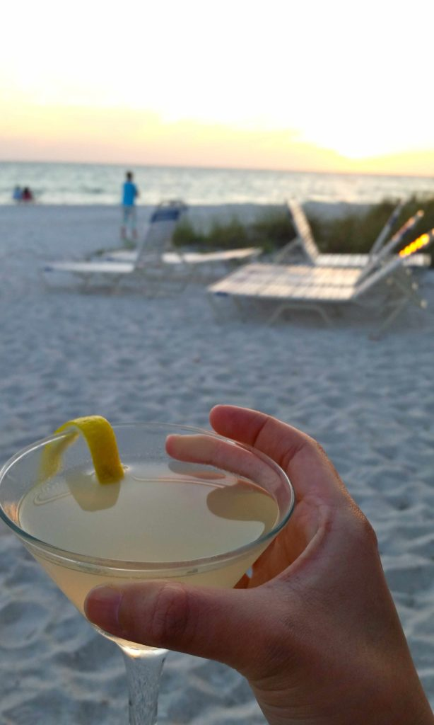 Sunset cocktail hour at Beach Bistro