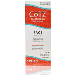 Cotz mineral sunscreen. From Cotz Skin Care.