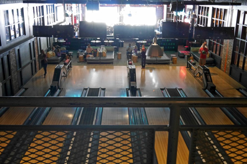 Bowling alley at Punch Bowl Social